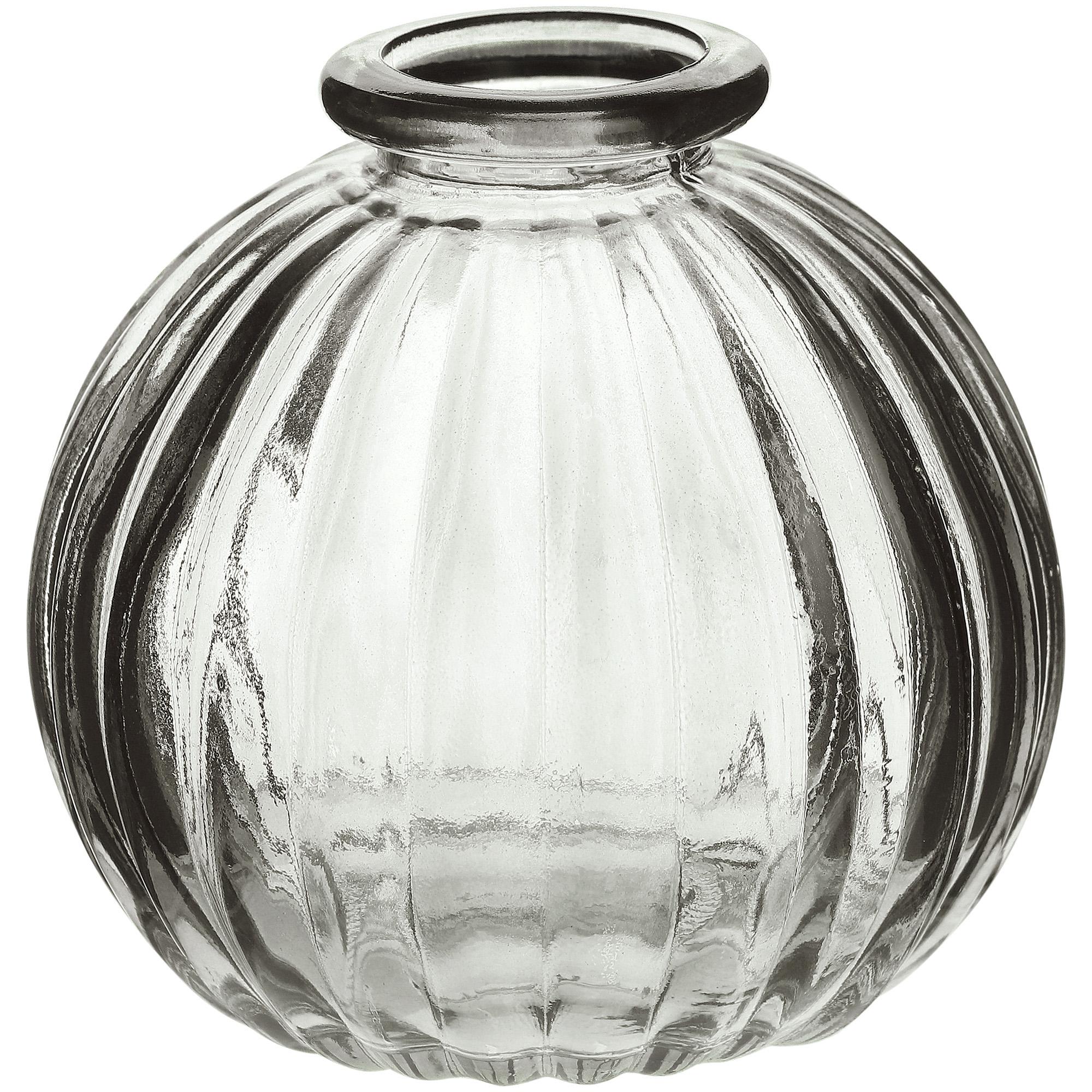 Ваза стеклянная Hakbijl Glass Mini Vase серая 8,5х8 см