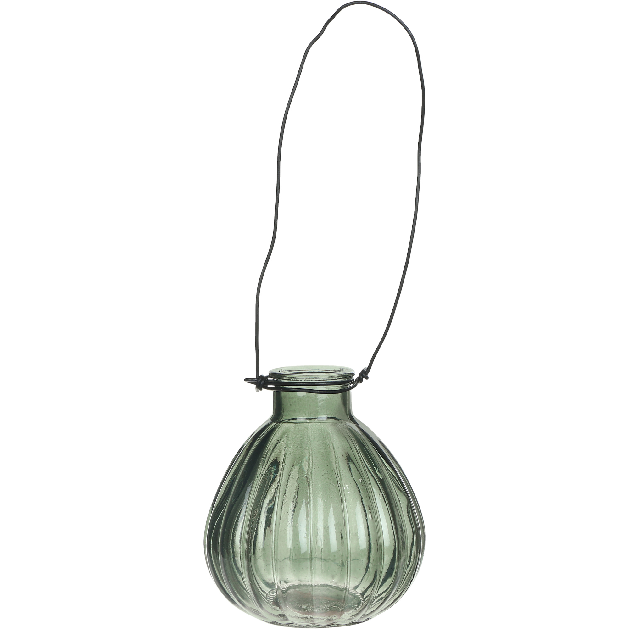 Ваза Hakbijl glass Mini Vase серая 8,5х11 см