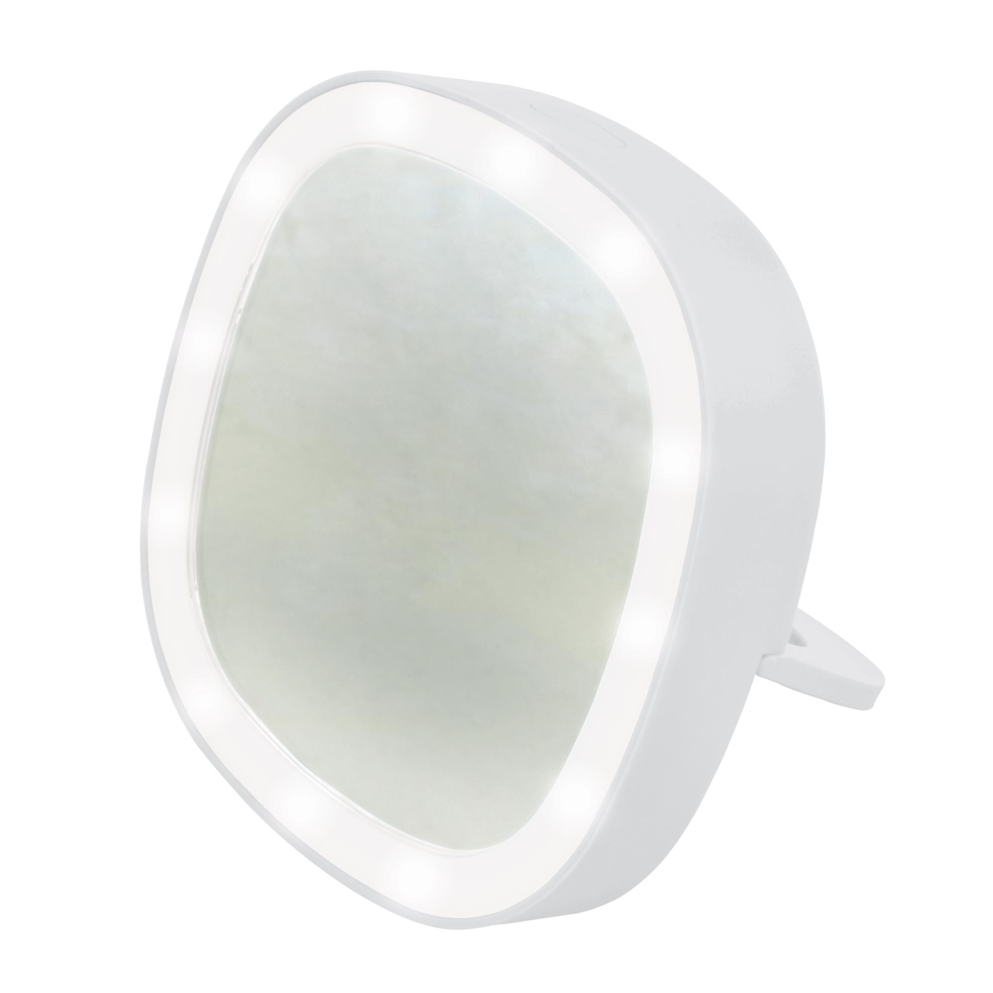 Зеркало Uniel карманное с подсветкой ULK-F71 3AAA WHITE