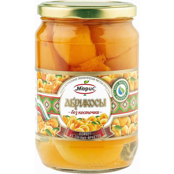 Компот Марис из абрикосов без косточки, 700 г