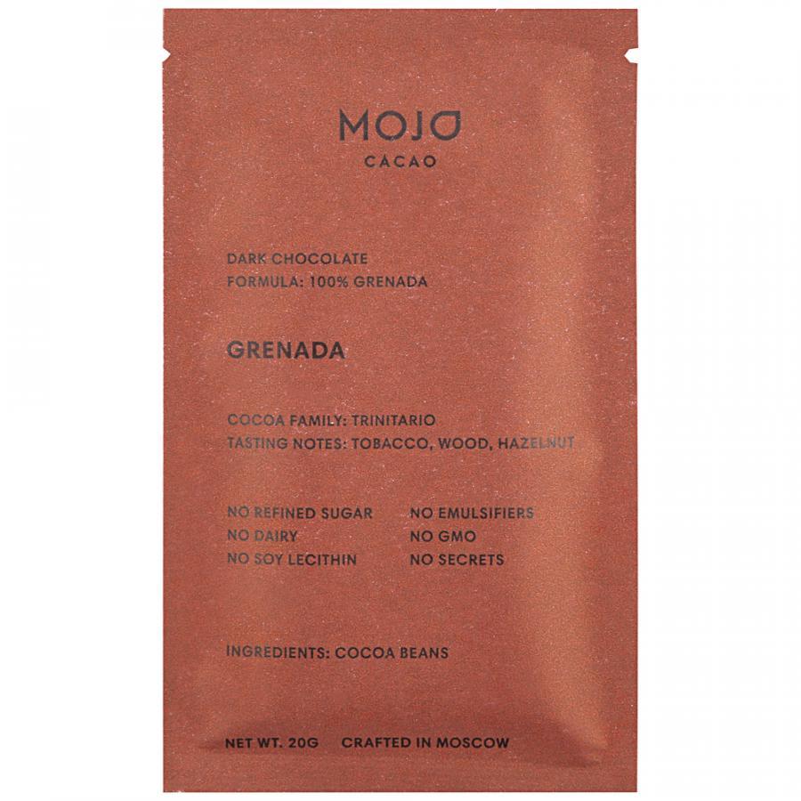 Шоколад Mojo cacao Grenada горький 100%, 20 г