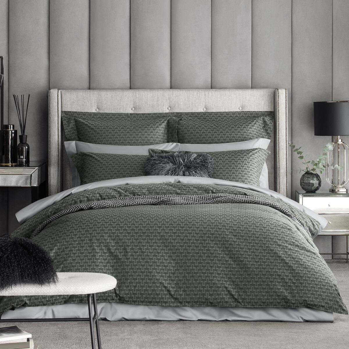 Комплект постельного белья Togas Кингстон тёмно-серый Евро