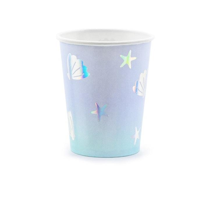 Стакан бумажный Party Deco narwhal 220мл 6шт в ассортименте стакан бумажный party deco swan 220мл 6шт в ассортименте