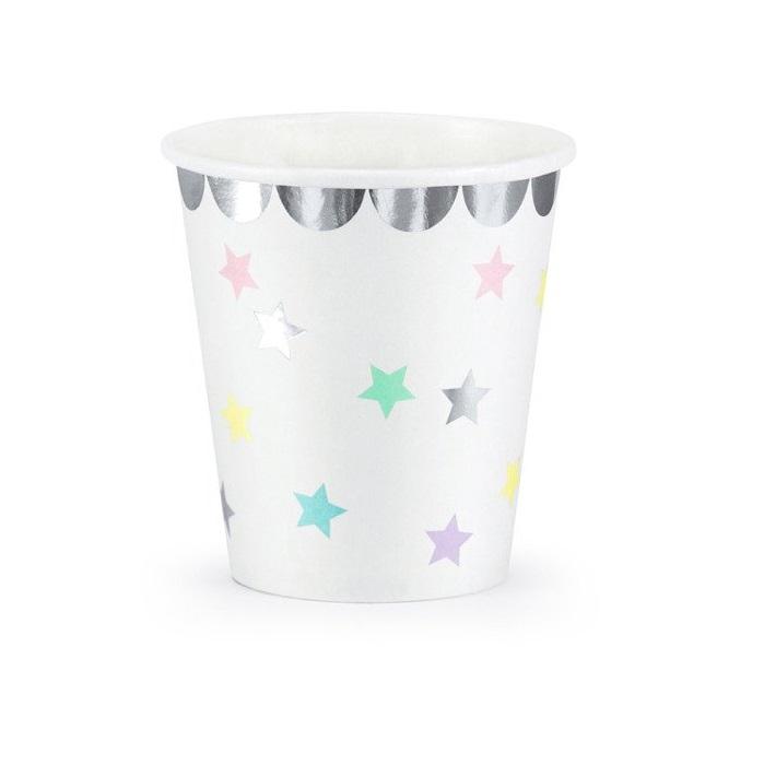 Стакан бумажный Party Deco unicorn 180мл 6шт в ассортименте стакан бумажный party deco swan 220мл 6шт в ассортименте