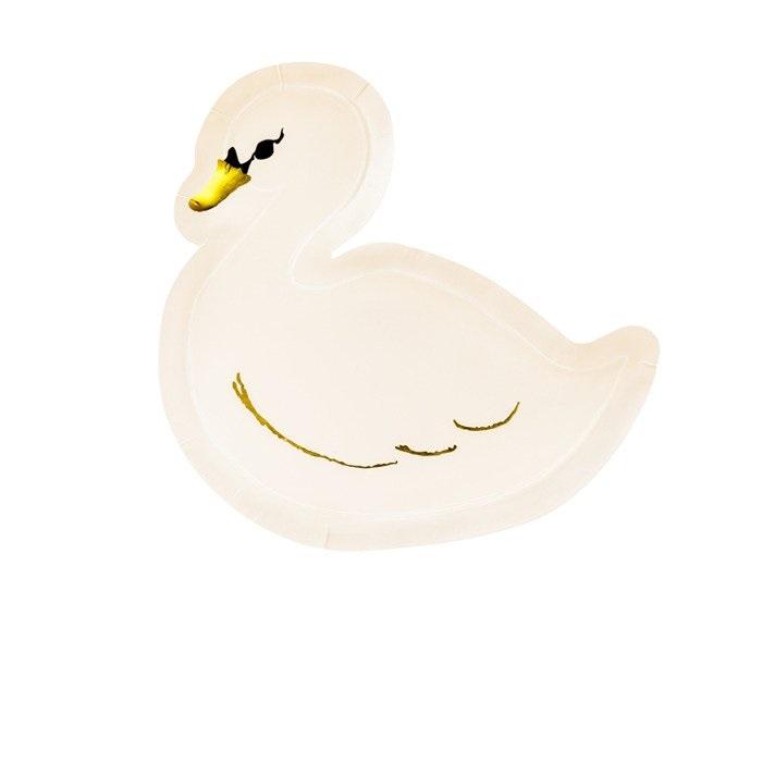Тарелка бумажная Party Deco swan 23.5x22.5см 6шт в ассортименте стакан бумажный party deco swan 220мл 6шт в ассортименте