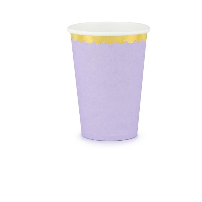 Стакан бумажный Party Deco лиловый 220мл 6шт в ассортименте стакан бумажный party deco swan 220мл 6шт в ассортименте