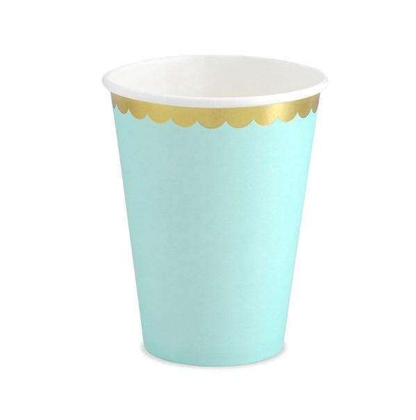 Стакан бумажный Party Deco мятный 220мл 6шт в ассортименте стакан бумажный party deco swan 220мл 6шт в ассортименте