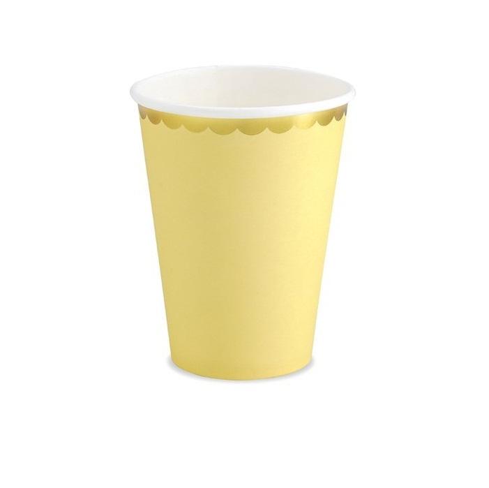 Стакан бумажный Party Deco желтый 220мл 6шт в ассортименте стакан бумажный party deco swan 220мл 6шт в ассортименте