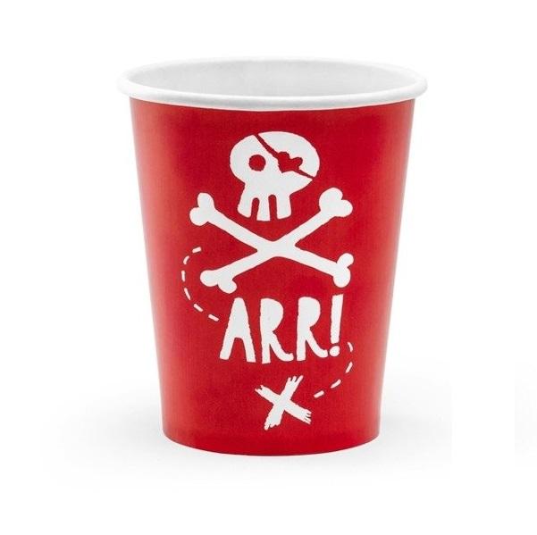 Стаканы бумажные Party Deco pirates party 220мл 6шт в ассортименте стакан бумажный party deco swan 220мл 6шт в ассортименте