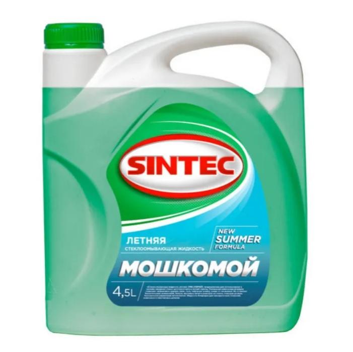 Стеклоомывающая жидкость Sintec 4.5л летняя
