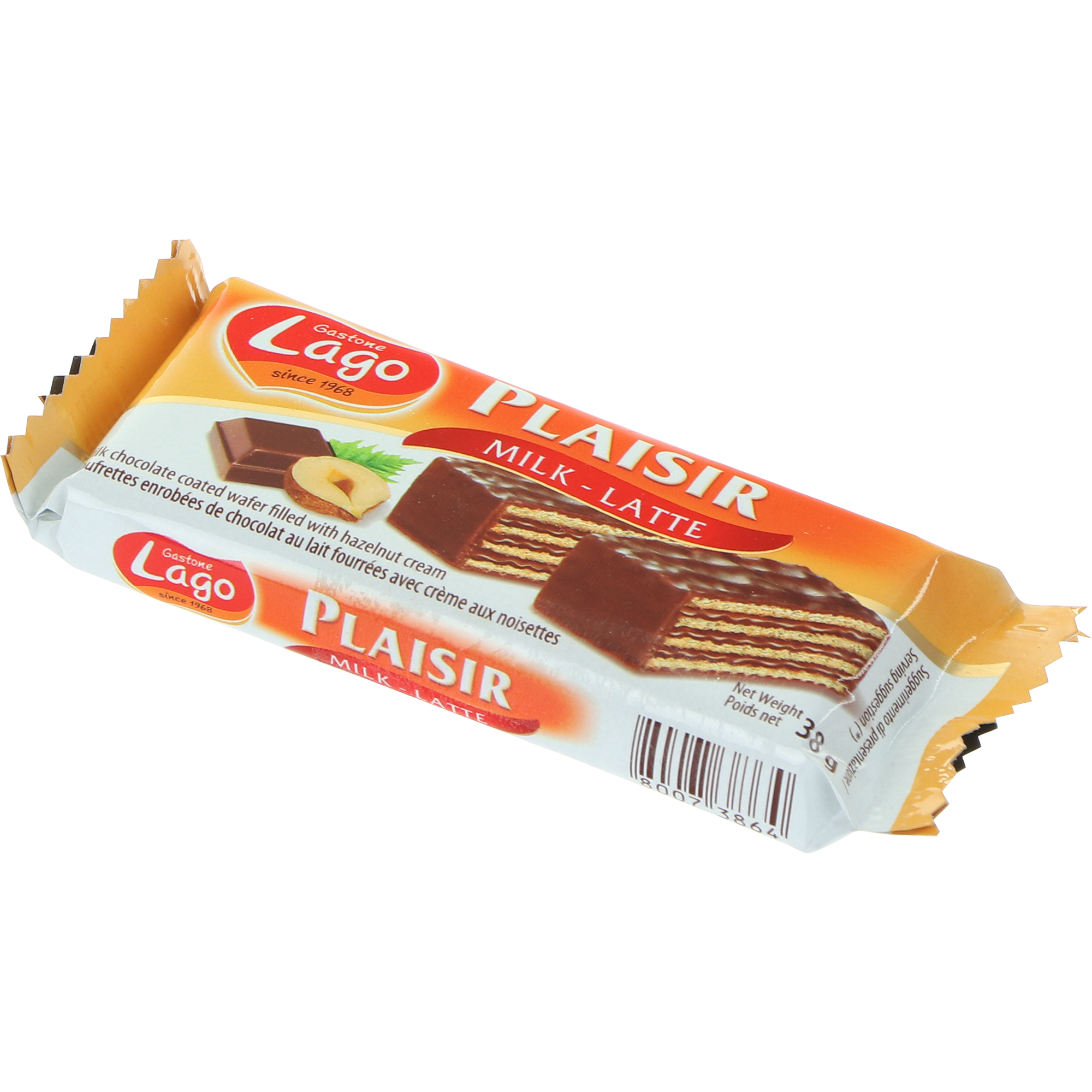 Вафли Gastone Lago Plaisir молочный шоколад, 38 г недорого