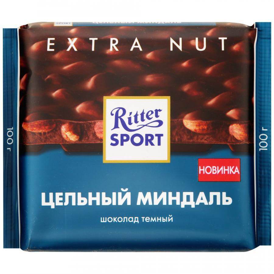 Фото - Шоколад темный Ritter Sport с цельным миндалем, 100 г шоколад ritter sport молочный карамельный мусс с миндалем 100 г