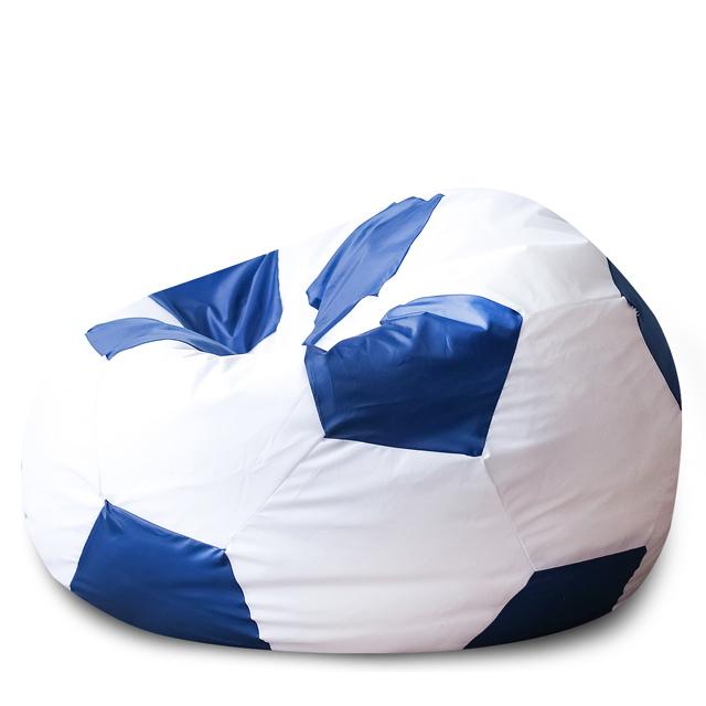 Кресло Dreambag мяч бело-голубой оксфорд