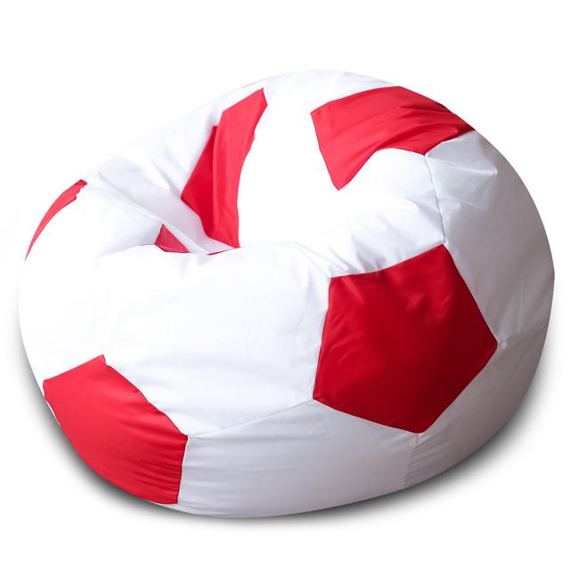 Кресло Dreambag мяч бело-красный оксфорд