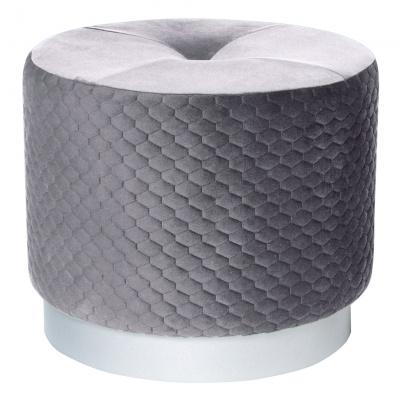 Пуф Dreambag Honey большой серый 50х50х44 см