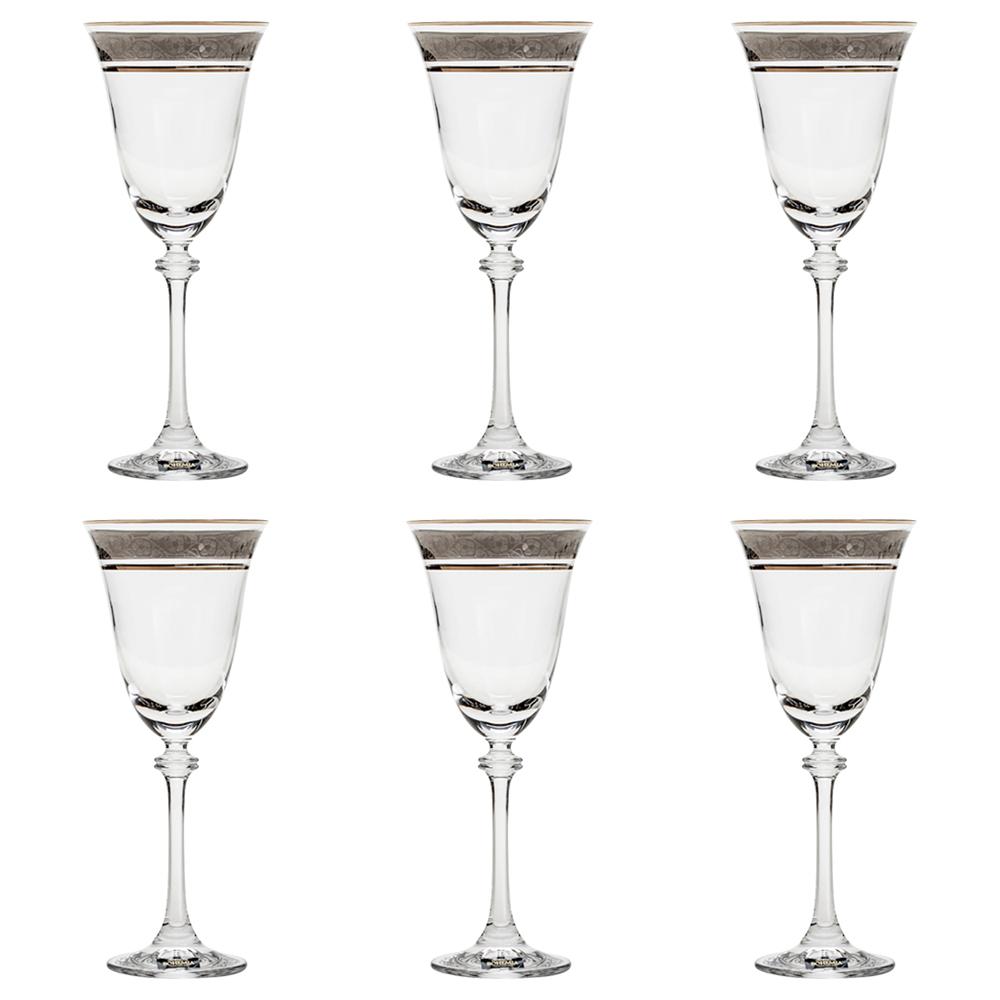 Фото - Набор бокалов для красного вина Crystalite Bohemia Asio Панто платина 250 мл 6 шт набор бокалов первый мебельный набор бокалов для вина crystalite bohemia ardea amundsen 450мл 6 шт