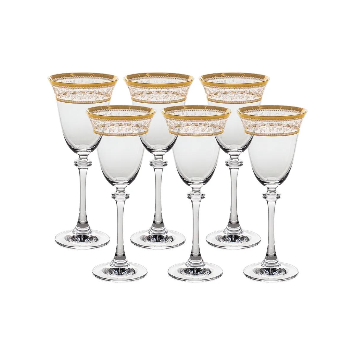 Фото - Набор бокалов для белого вина Crystalite Bohemia Asio Панто золото 185 мл 6 шт набор фужеров crystalite bohemia asio панто платина 190 мл 6 шт