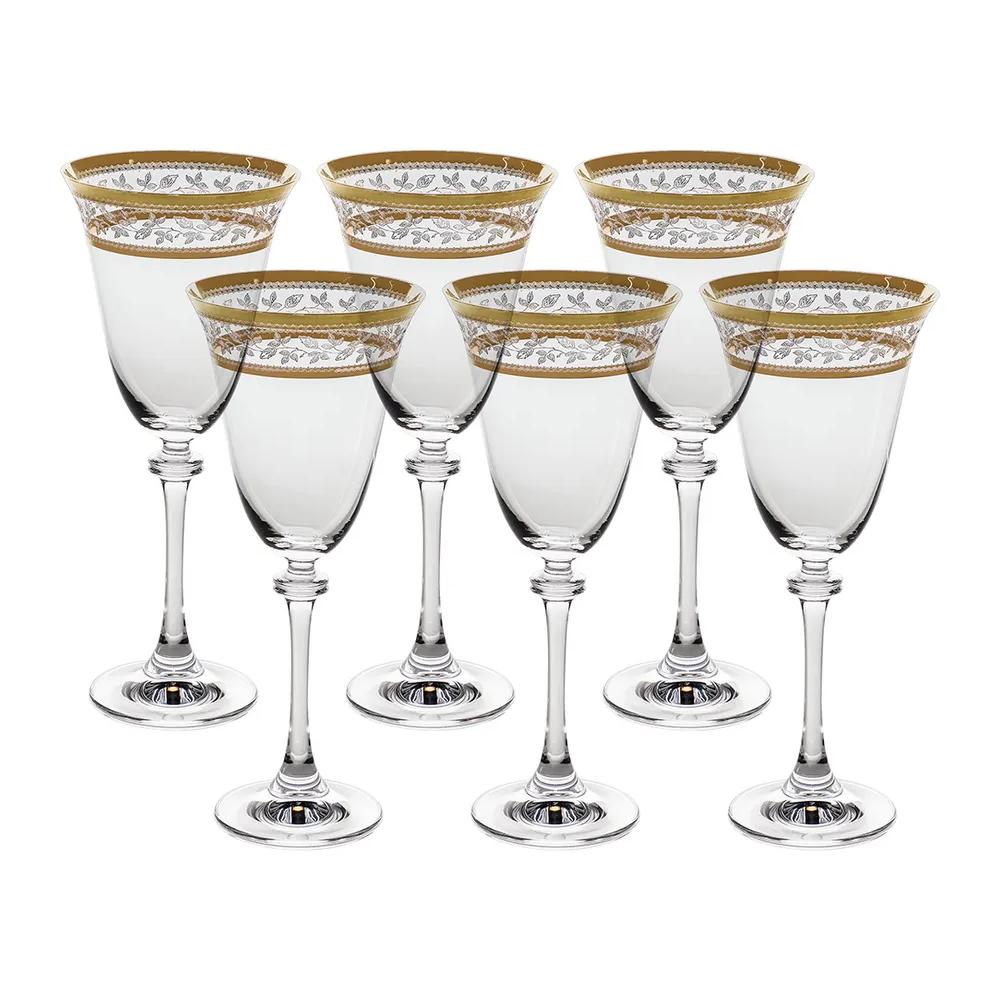Фото - Набор бокалов для красного вина Crystalite Bohemia Asio Панто золото 250 мл 6 шт набор бокалов первый мебельный набор бокалов для вина crystalite bohemia ardea amundsen 450мл 6 шт
