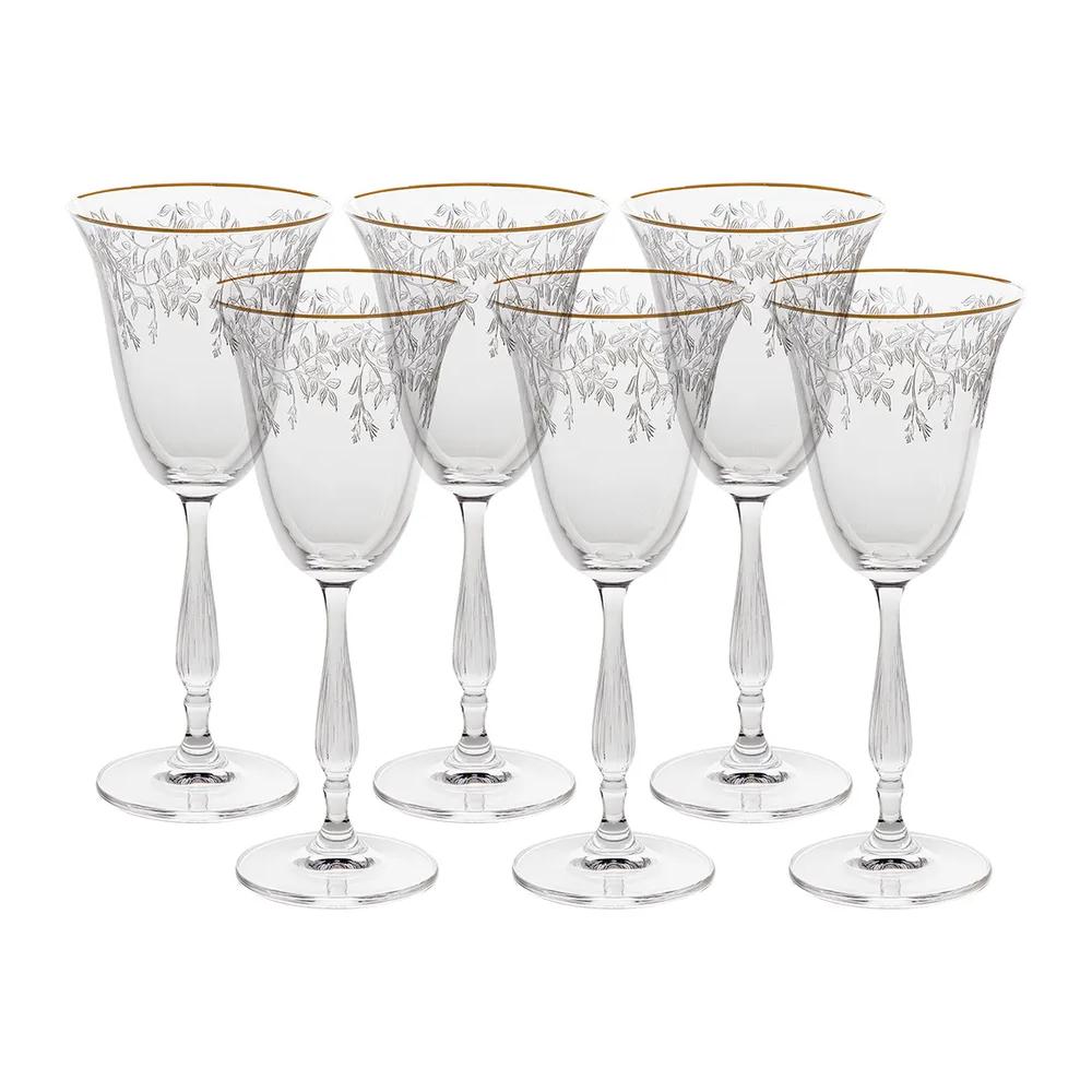 Фото - Набор бокалов для белого вина Crystalite Bohemia Fregata Панто, затирка платина 185 мл 6 шт набор фужеров crystalite bohemia asio панто платина 190 мл 6 шт