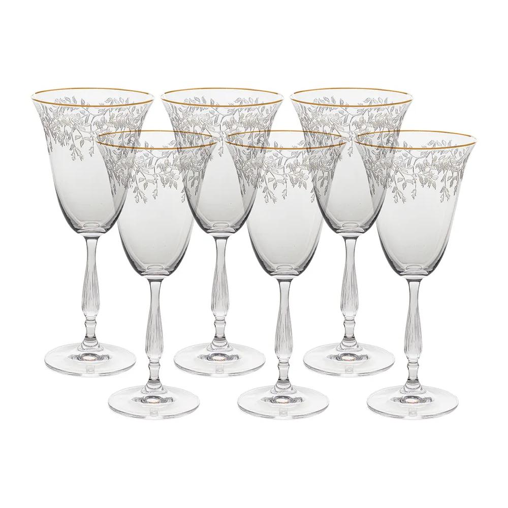 Фото - Набор бокалов для красного вина Crystalite Bohemia Fregata Панто, затирка платина 250 мл 6 шт набор фужеров crystalite bohemia asio панто платина 190 мл 6 шт