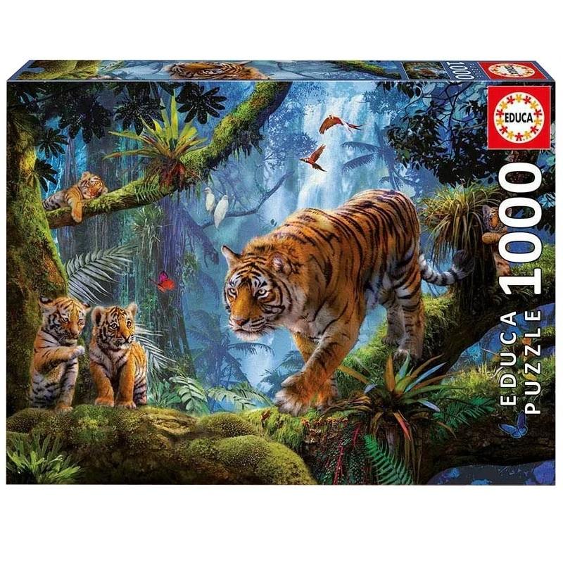 Фото - Пазл Educa 1000 деталей Тигры на дереве пазл educa мир банкнот 1000 деталей