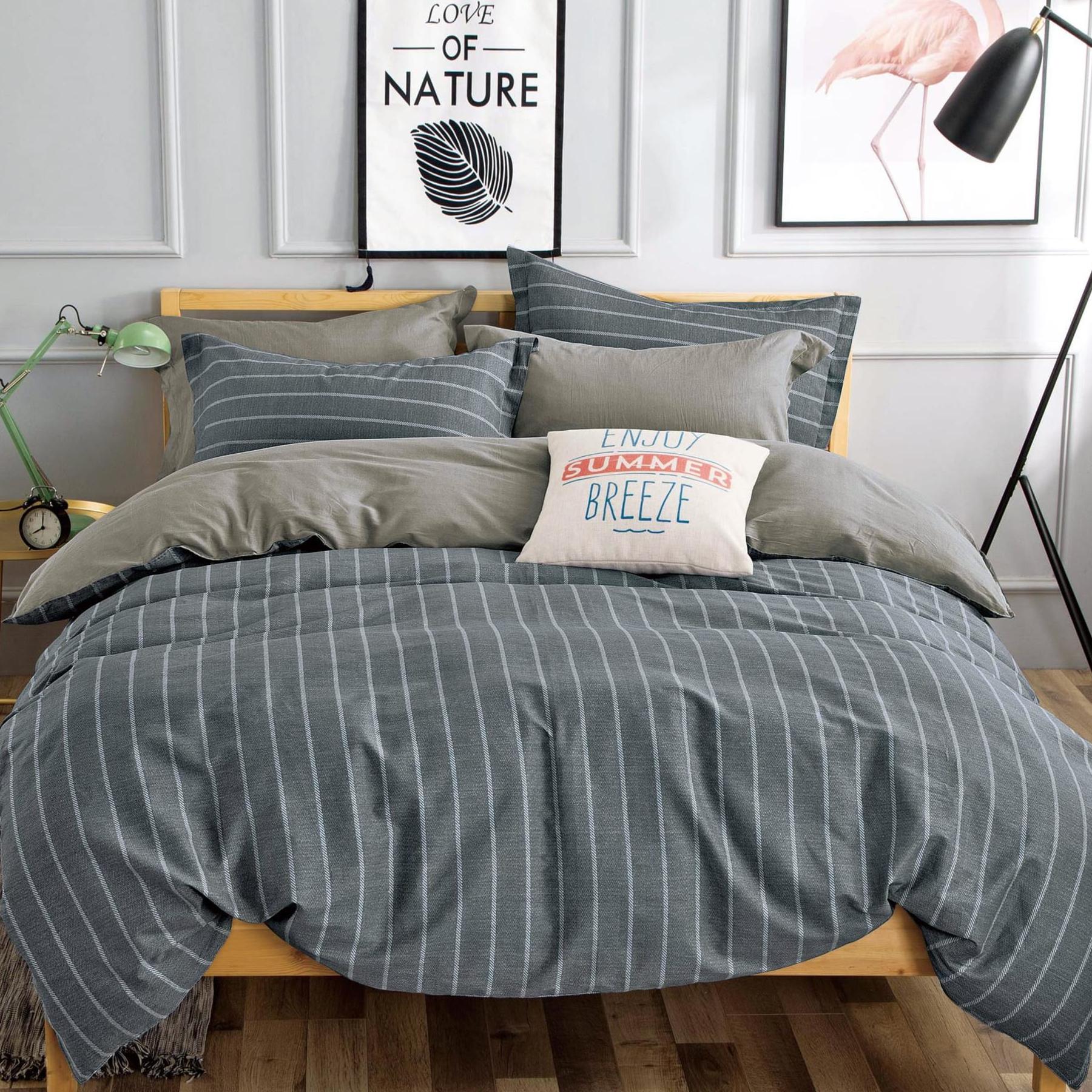 Комплект постельного белья Sanpa Трейси серый Евро