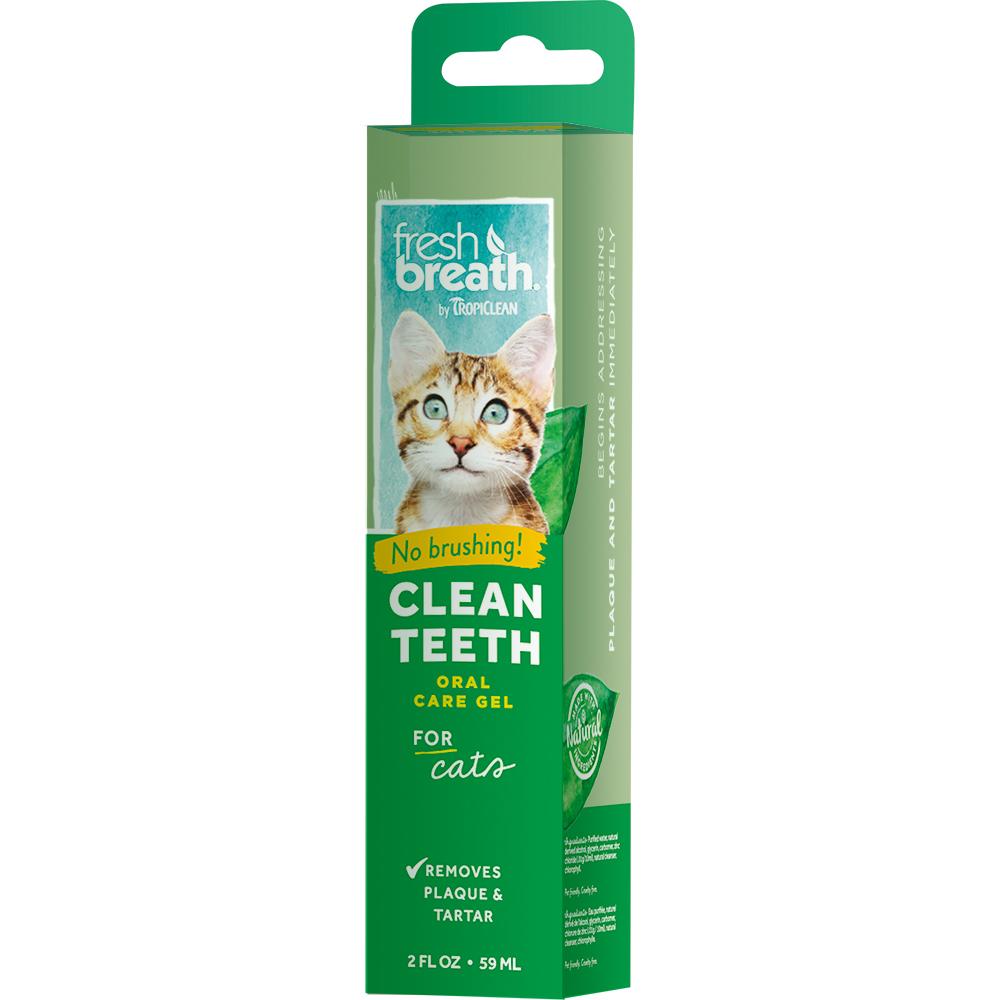 Гель для кошек TropiClean для чистки зубов 59 мл tropiclean fresh breath gel vanilla mint гель для собак для чистки зубов ваниль и мята 59 мл