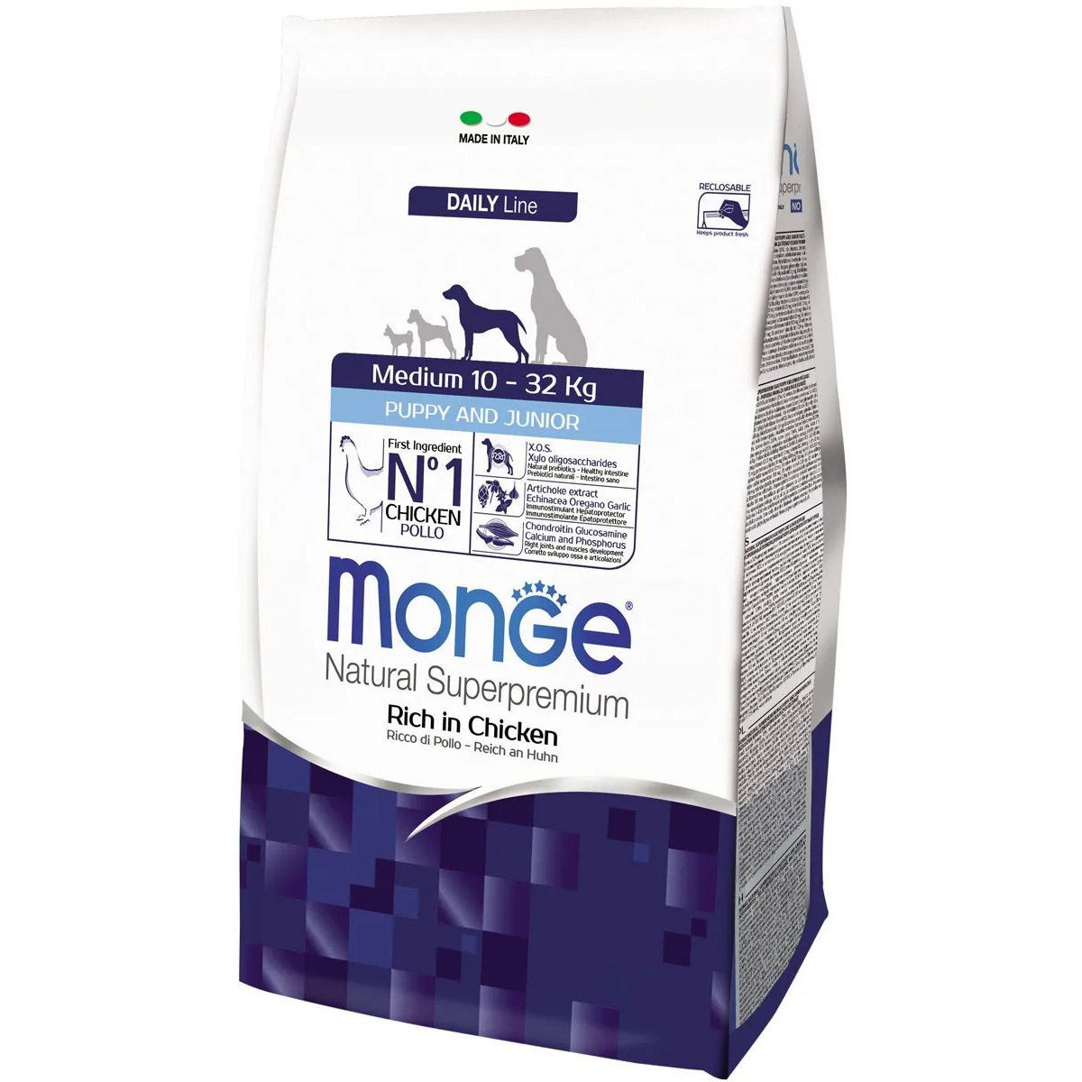 Корм для щенков Monge Dog Medium для щенков средних пород 3 кг