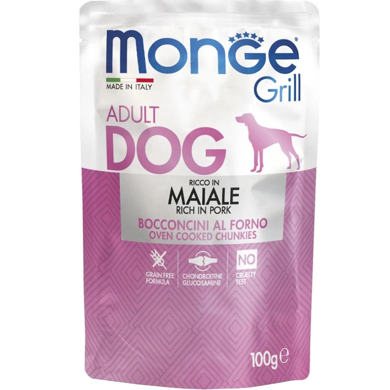 Корм для собак Monge Dog Grill свинина 100 г
