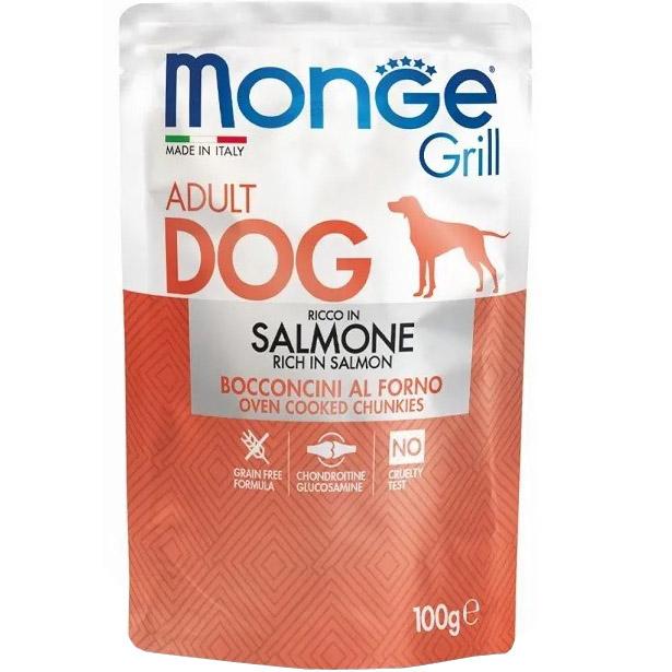 Корм для собак Monge Dog Grill лосось 100 г