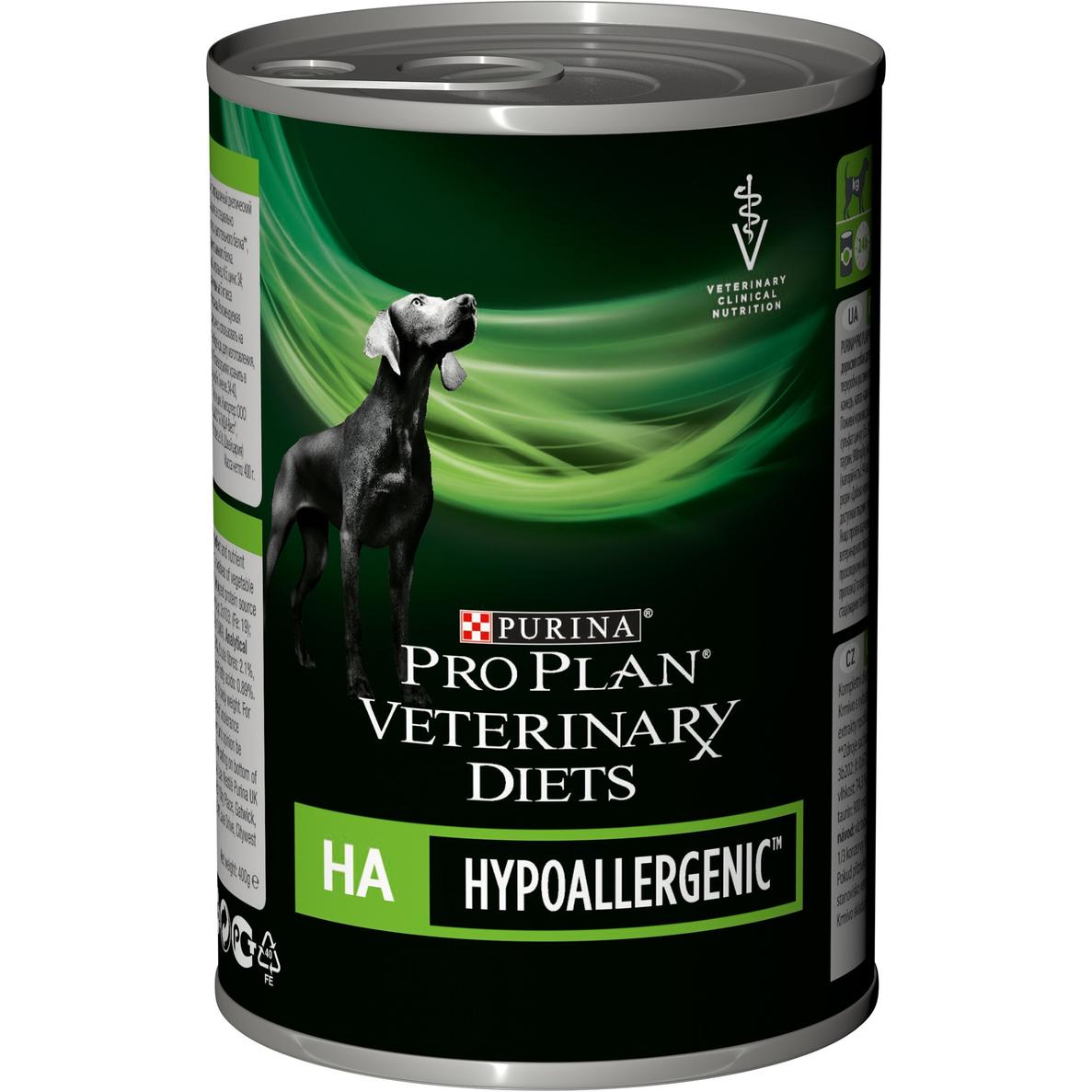 Корм для собак Pro Plan Veterinary Diets HA Hypoallergenic при пищевой аллергии 400 г