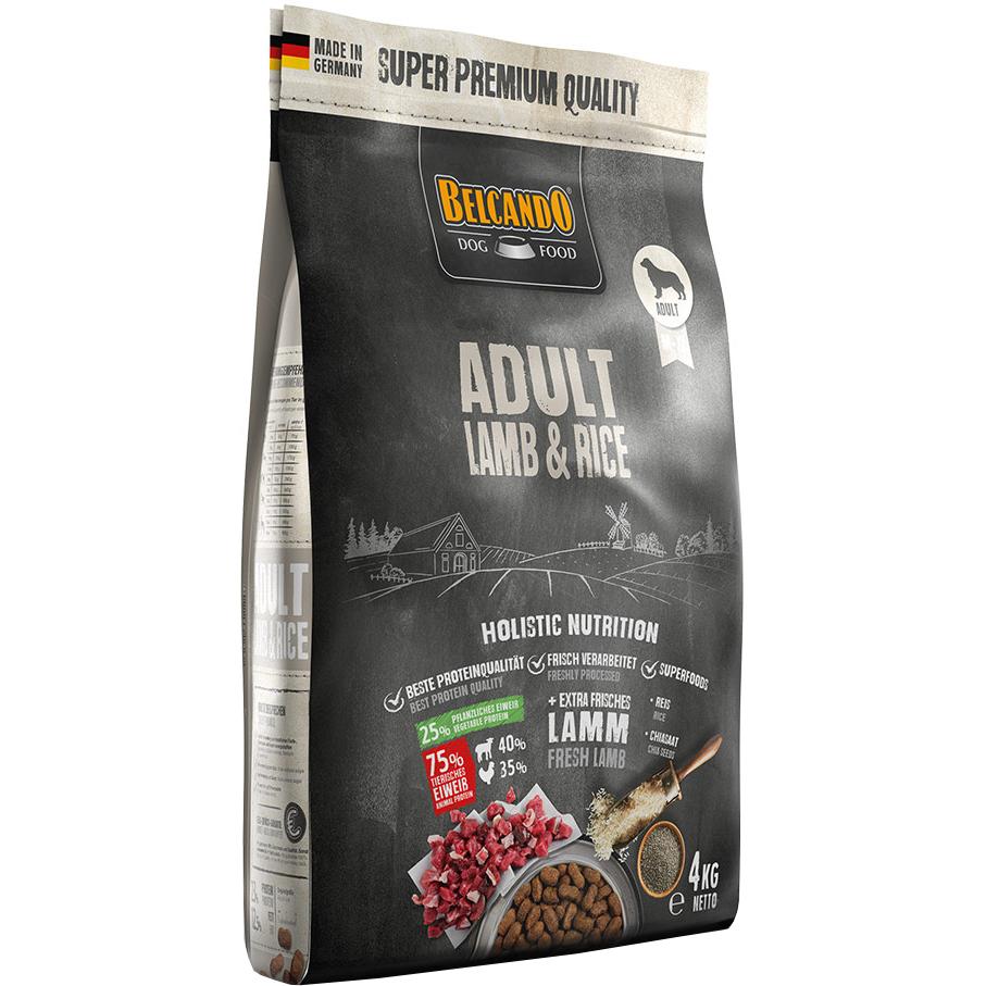 Корм для собак Belcando Adult Lamb & Rice ягненок и рис 4 кг