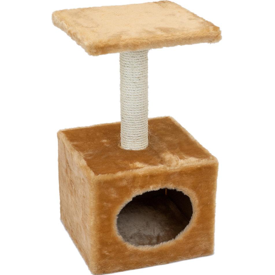 Когтеточка для кошек Foxie Домик 30x30x57см бежевая