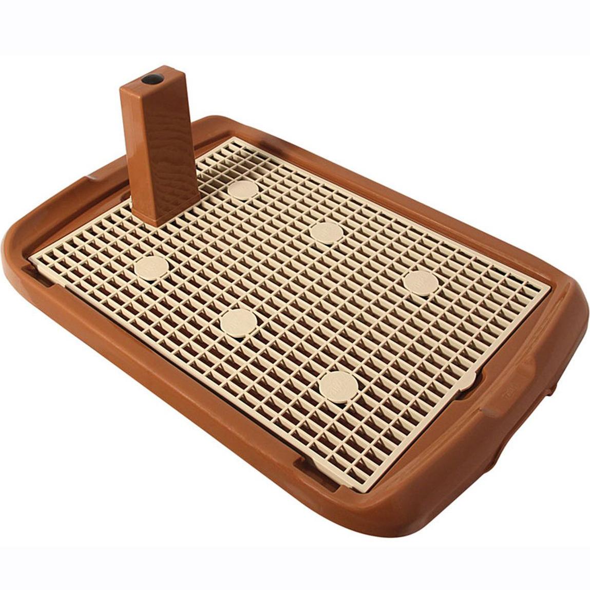Туалет для собак TRIOL PL001 со столбиком коричневый 70x47x4 см