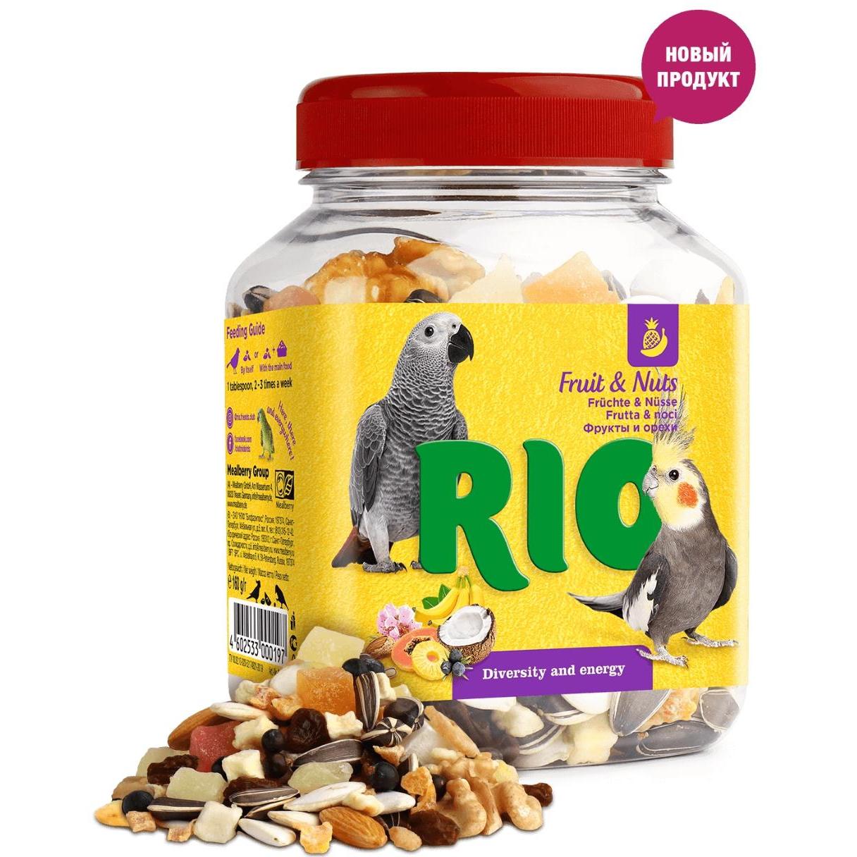 Фото - Лакомство для птиц Rio Фруктово-ореховая смесь 160 г смесь фруктово ореховая botanica 140 г