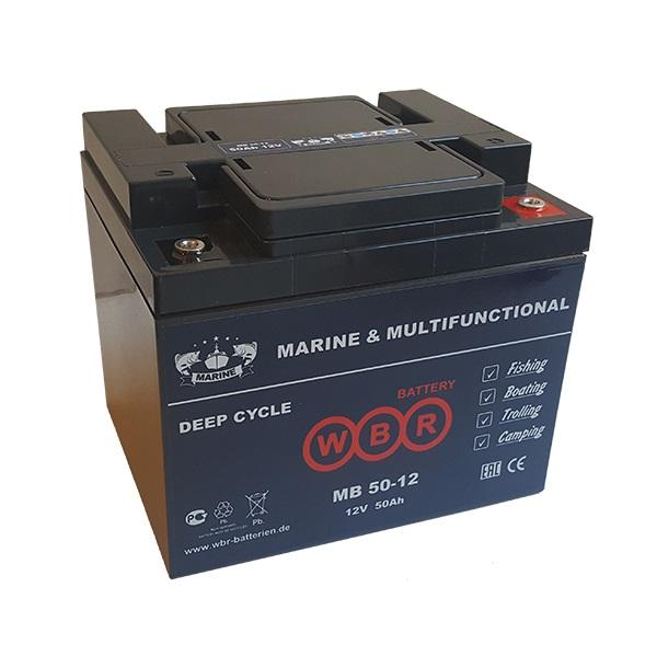 Батарея свинцово-кислотная аккумулятор WBR Marine MB 50-12