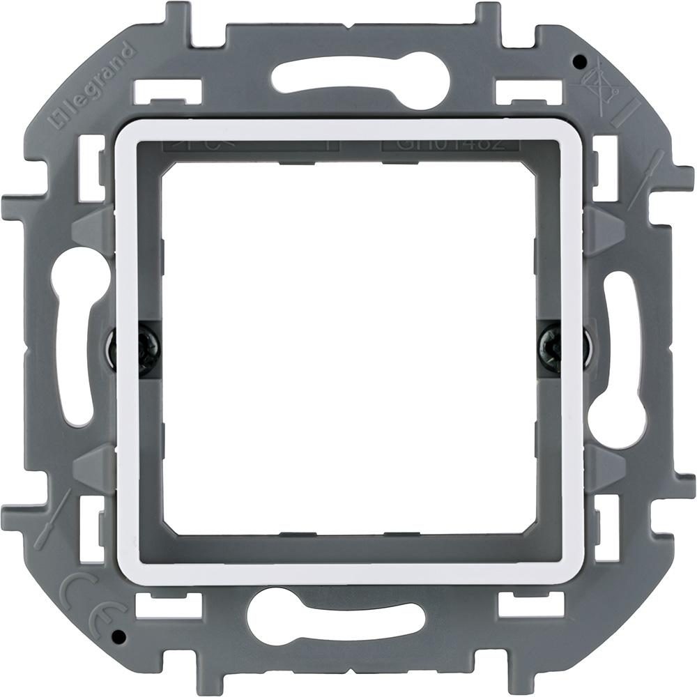 Фото - Адаптер Legrand Inspiria для 2-модульных механизмов Legrand Mosaic, цвет - белый суппорт legrand 653178 для монтажа механизмов эуи 2 3 модуля