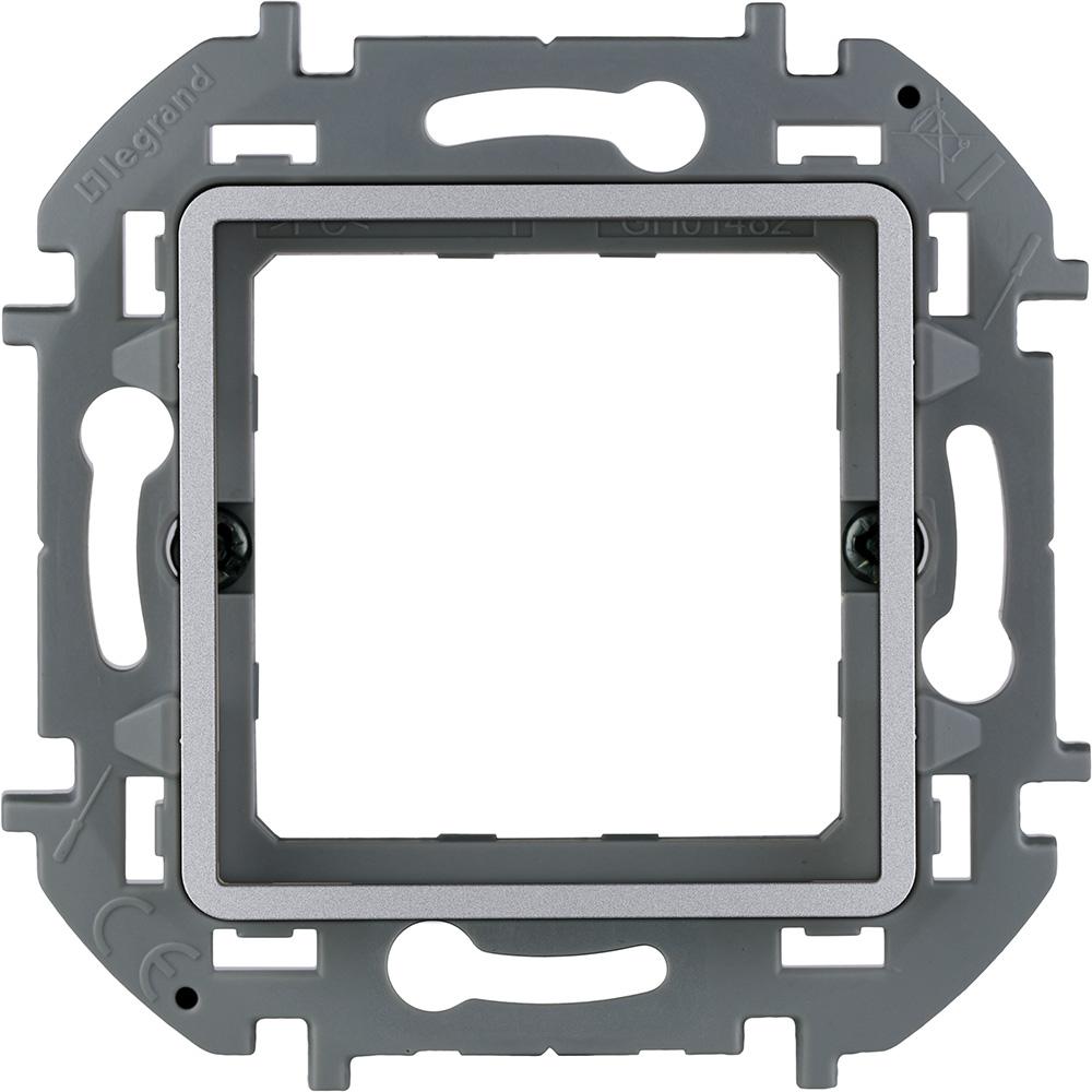 Фото - Адаптер Legrand Inspiria для 2-модульных механизмов Legrand Mosaic, цвет - алюминий суппорт legrand 653178 для монтажа механизмов эуи 2 3 модуля