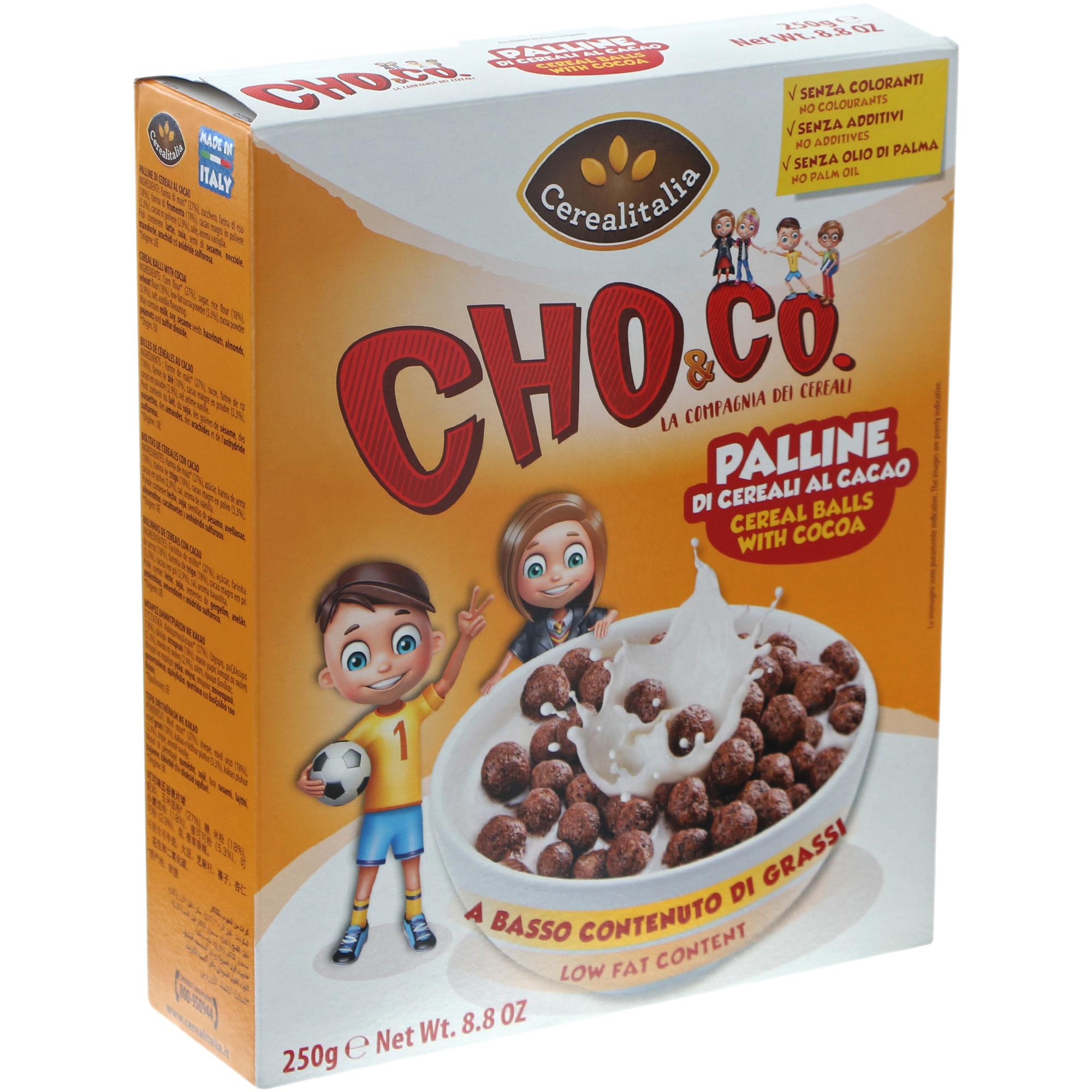 Фото - Готовый завтрак Cerealitalia шоколадные шарики, 250 г готовый завтрак хрутка шоколадные колечки пакет 210 г