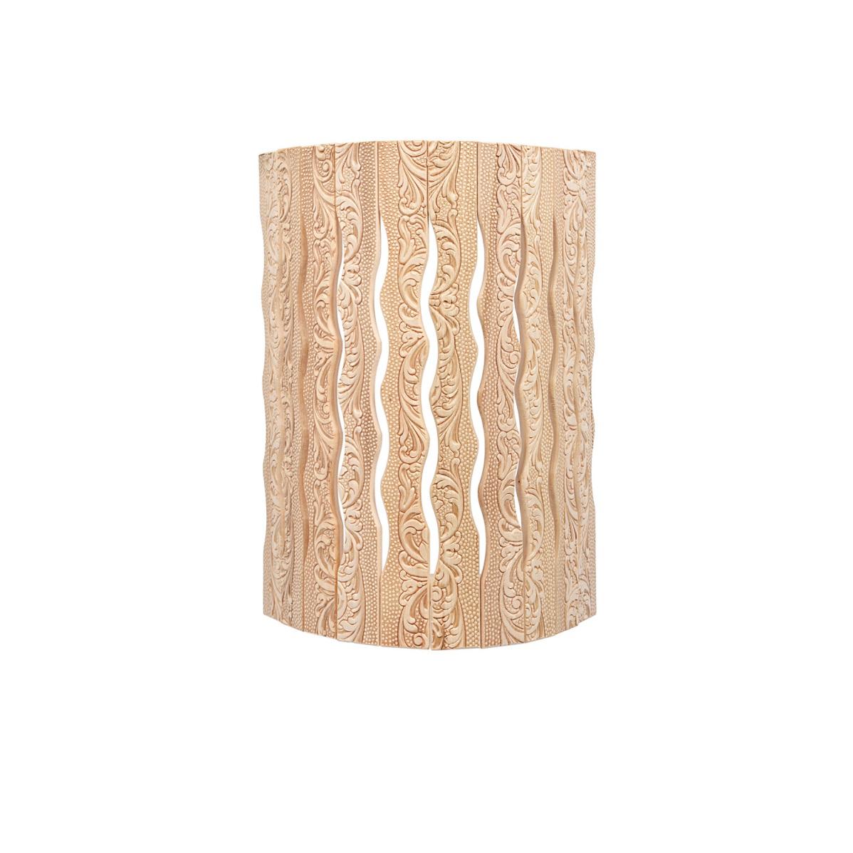 Абажур Банные штучки для светильника, угловой, липа, с орнаментом Цветы, 31х9х22 см