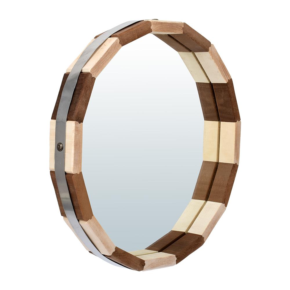 Зеркало-бочонок Банные штучки Контраст 32 см, липа