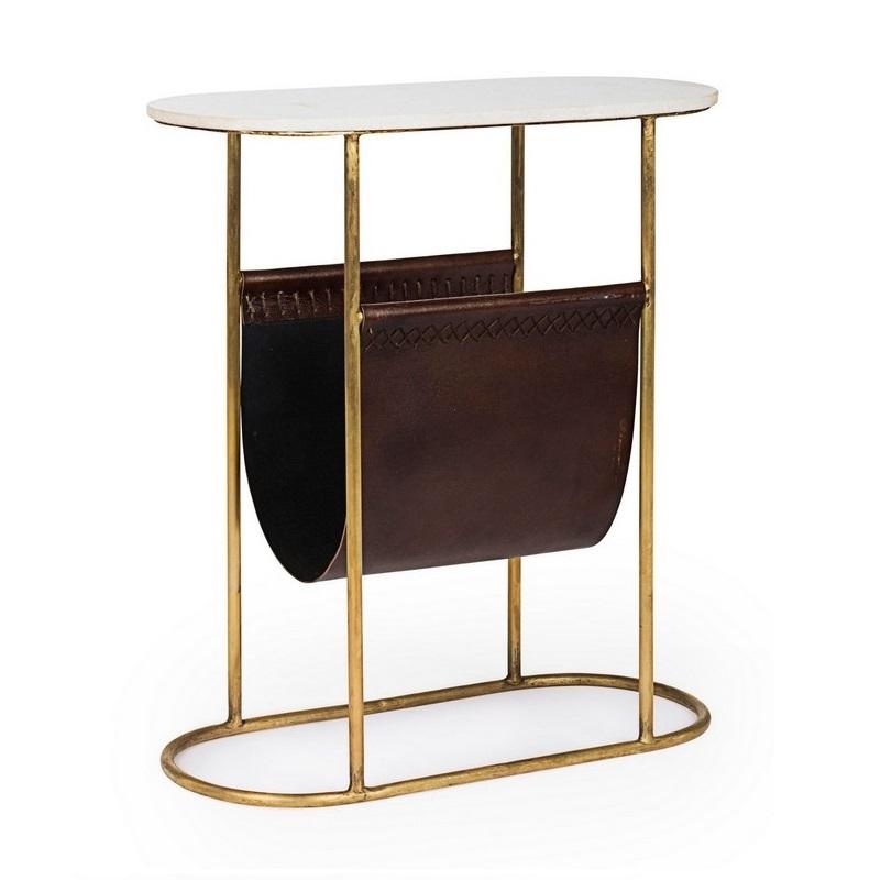 Столик кофейный с полкой под журналы Bizzotto furniture 53х23х59 см