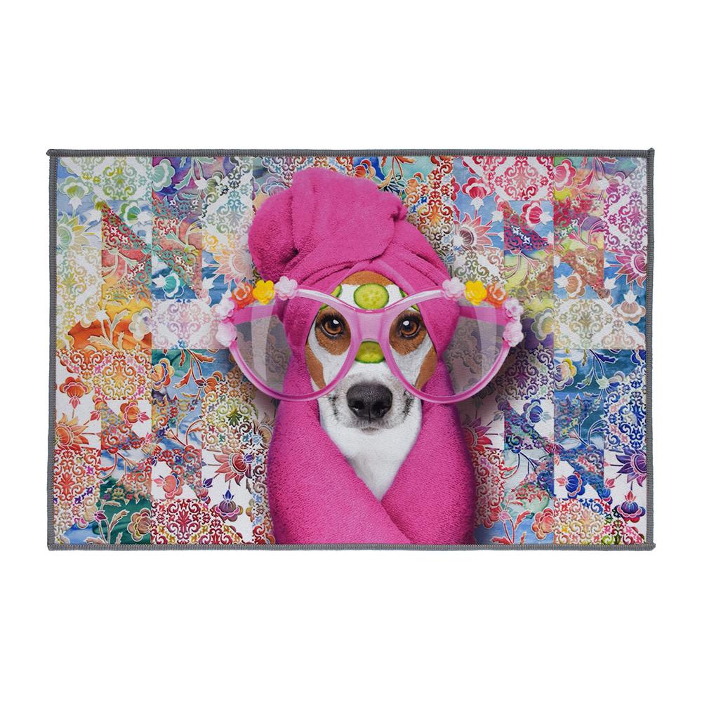 Фото - Коврик для ванной влаговпитывающий Vortex Velur Spa Стиляга разноцветный 40х60 см коврик для ванной spa 50 80 бежевый vortex 10