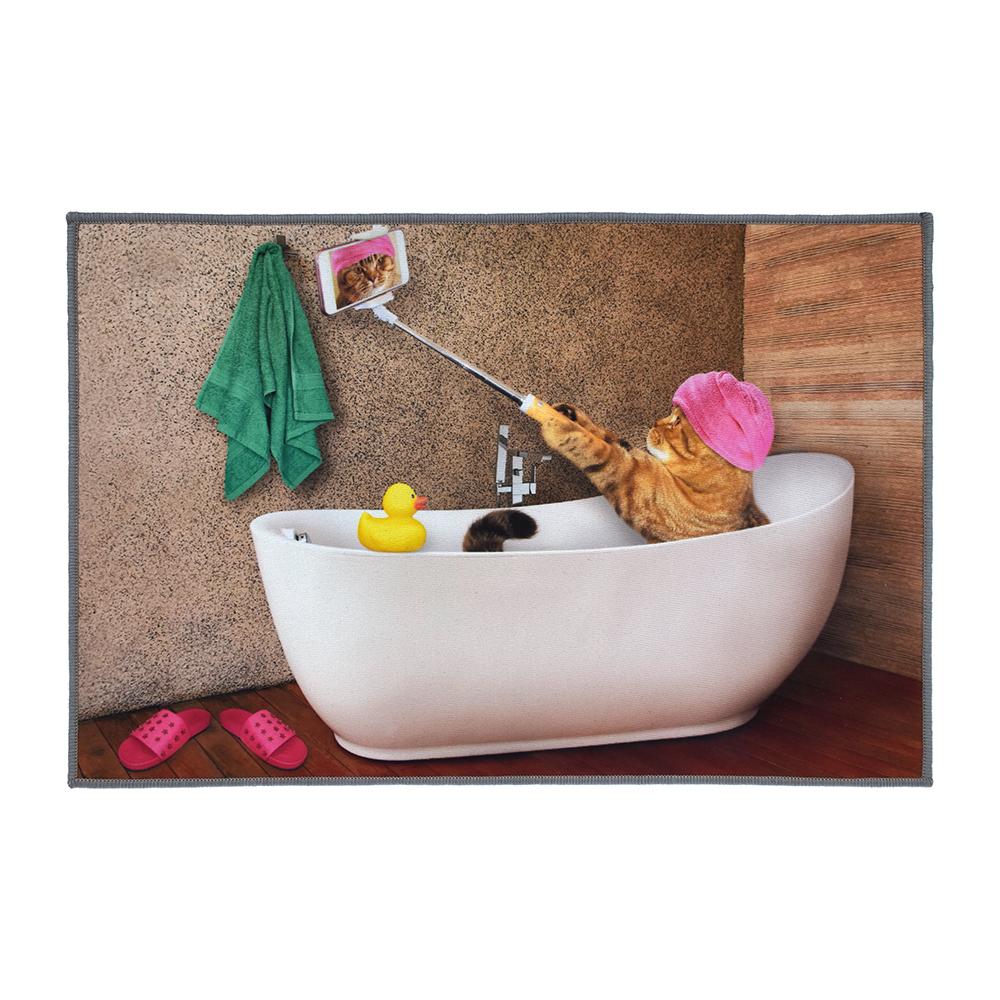 Фото - Коврик для ванной влаговпитывающий Vortex Velur Spa Инстакот разноцветный 40х60 см коврик для ванной spa 50 80 бежевый vortex 10
