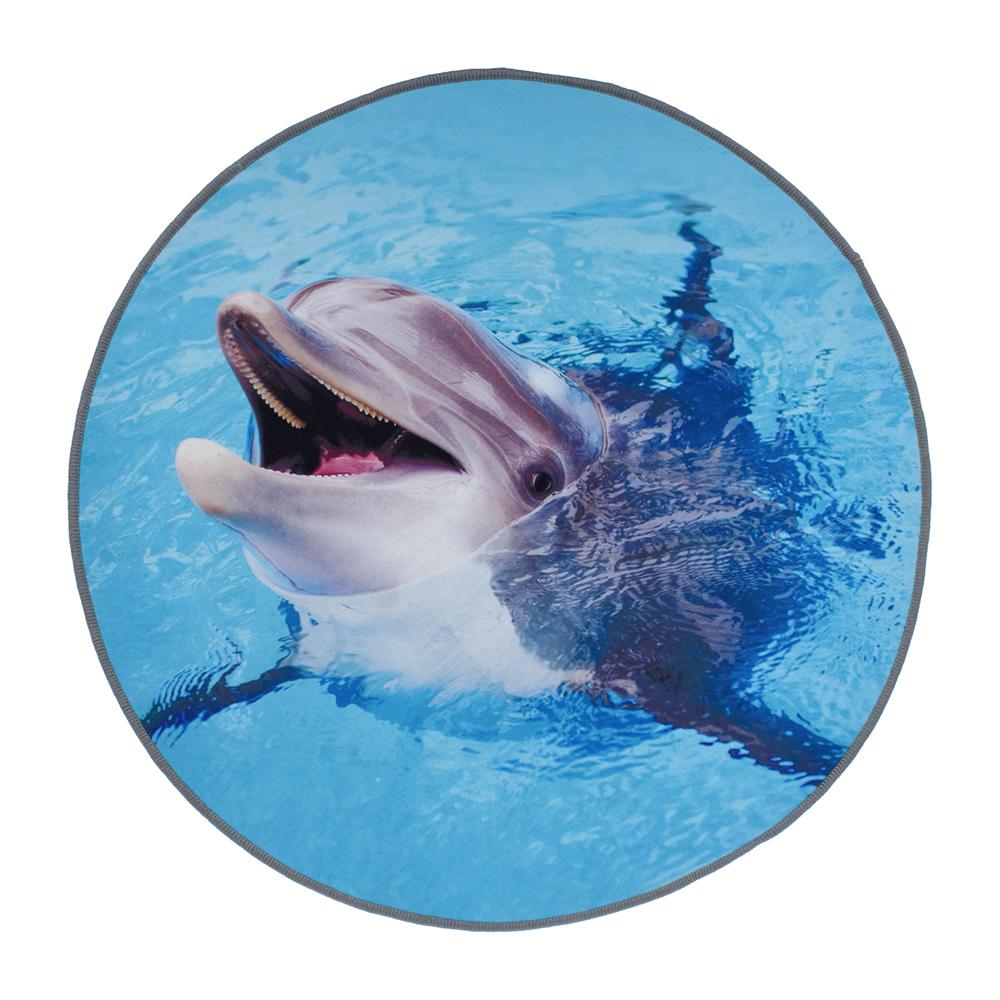 Фото - Коврик для ванной влаговпитывающий Vortex Velur Spa Дельфин разноцветный 60 см коврик для ванной spa 50 80 бежевый vortex 10