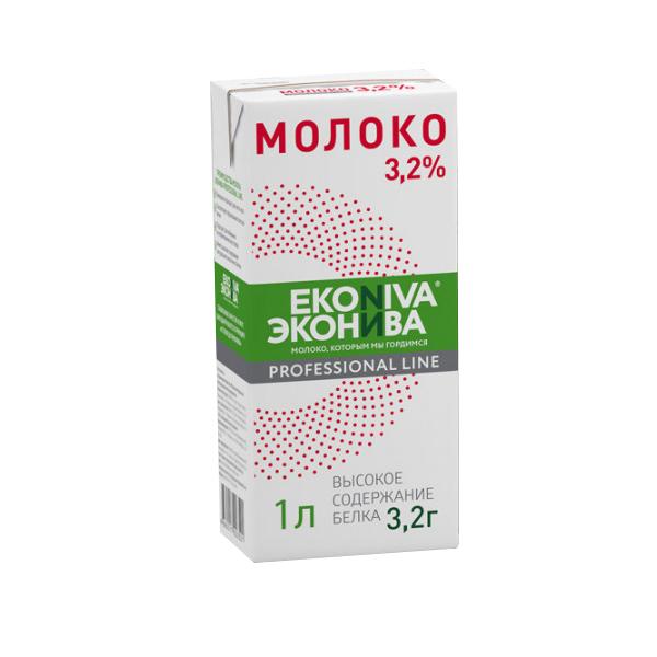 Молоко ЭкоНива Pr.Line ультрапастеризованное 3.2%, 1 л