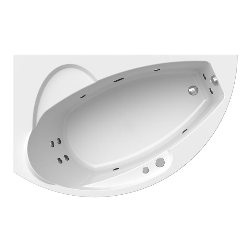 Гидромассажная ванна Radomir Варна Баланс белая левосторонняя 165х105 см