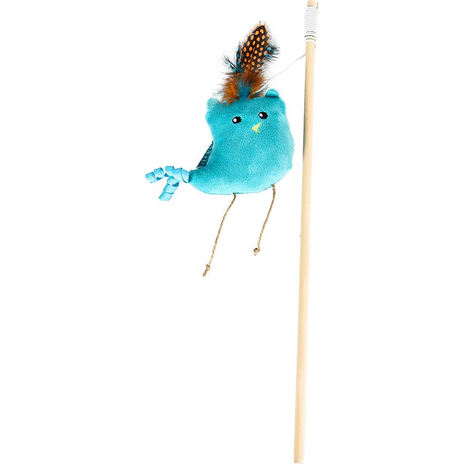 Игрушка для кошек Foxie Boho Птичка синяя с кошачьей мятой YT110396